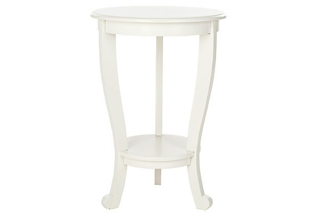 One Kings Lane - Natural, Comfortable Style - Wheaton Pedestal Side Table, White
