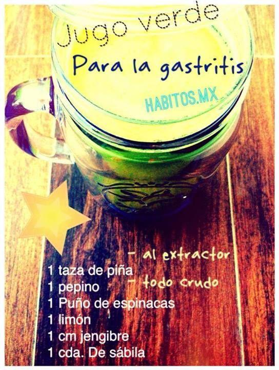 Jugo verde para gastritis... #jugo #salud #receta
