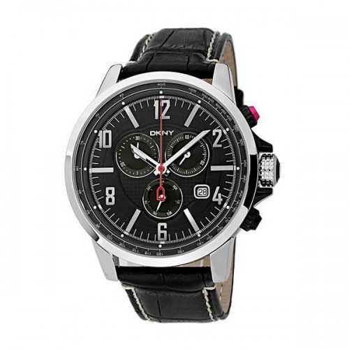 17 best images about dkny watches ceramics fashion dkny men s ny1325 black leather quartz watch