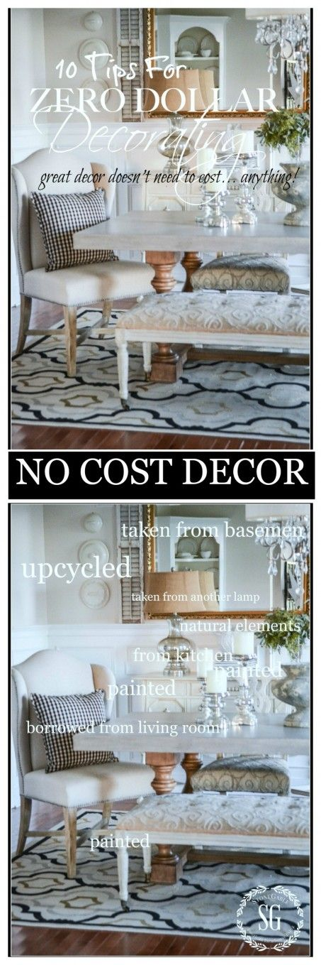 10 AMAZING TIPS FOR ZERO DOLLAR DECORATING