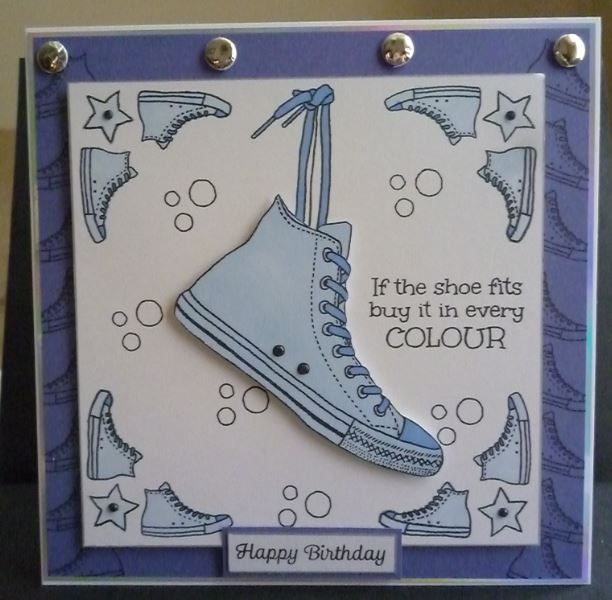 Card made using For The Love of Stamps - Step Out in Style Stamp set