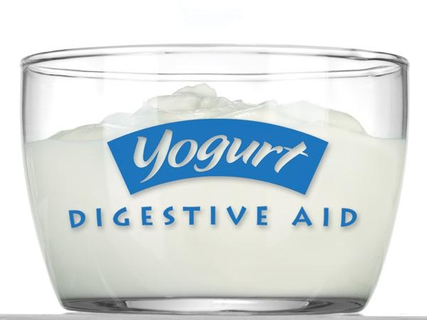 Try to eat a serving of yogurt with live cultures every day to relieve bloating and gas.