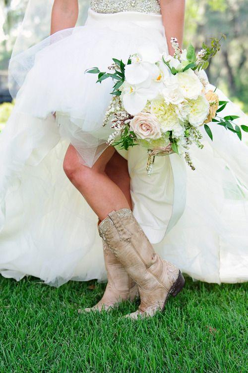 beautiful boots ... via SimplyBridal