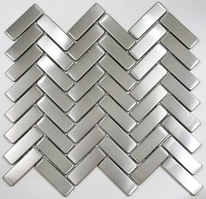 Chevron Stainless Steel Backsplash Tile Ooooooh Love This