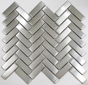 chevron stainless steel backsplash tile, ooooooh love this!!!