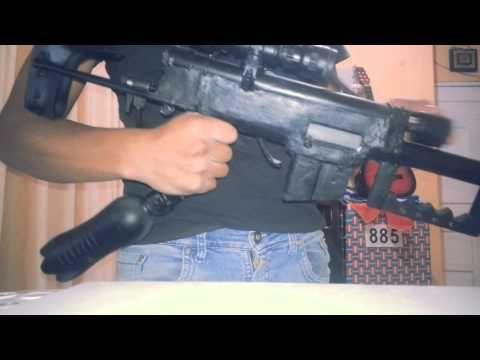 RIFLE DE AIRE COMPRIMIDO CASERO (REPLICA M200) - YouTube