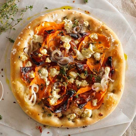 Sweet Potato, Spanish Onion & Goat's Cheese Pizza