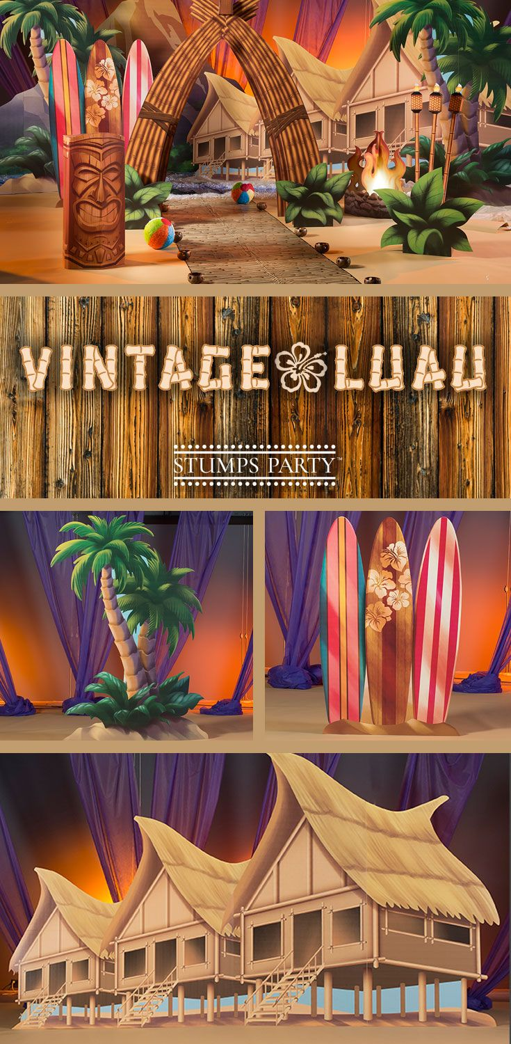 Add a tropical look and feel to your party with our Vintage Luau theme kit. Complement your event with personalized luau favors, invitations, and more! Shop all of our luau party supplies to make your event complete!