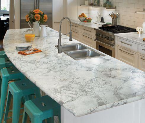 Formica Laminate 3421 Bianca Luna Bullnose Edge Laminate Marble Counter Top