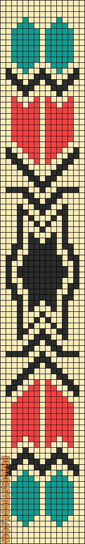 Alpha Friendship Bracelet Pattern #11158 - BraceletBook.com