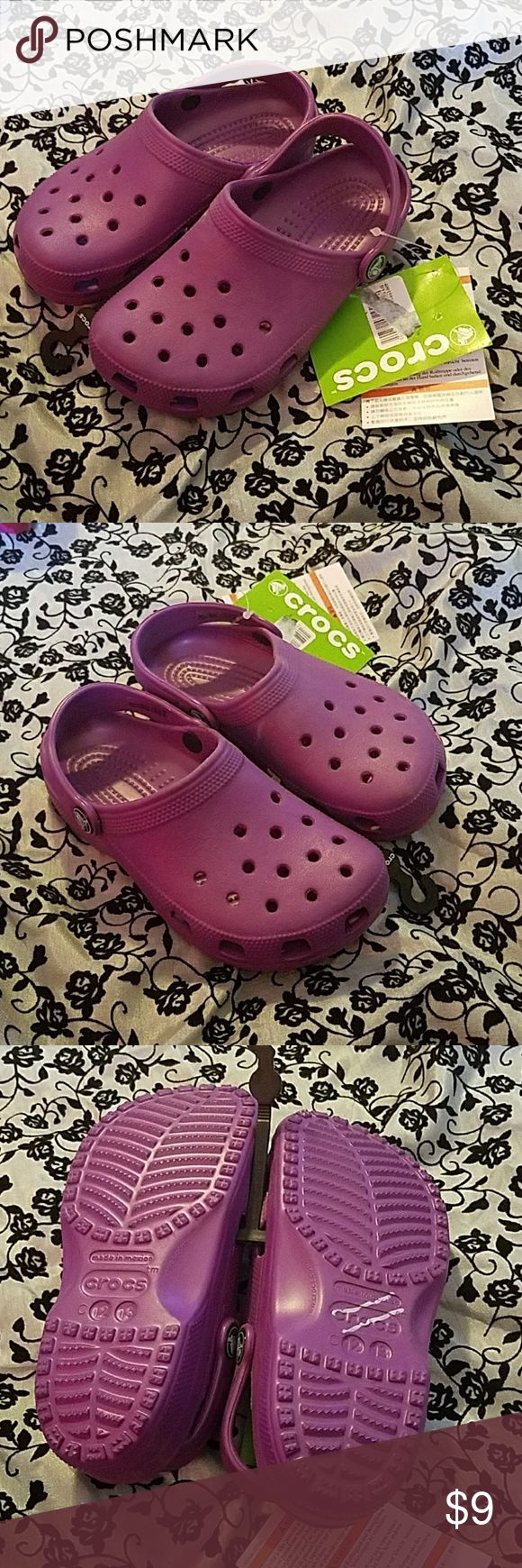 Child Purple Crocs 12/13 Please check all pictures carefully.  Sold as is CROCS Shoes Sandals & Flip Flops