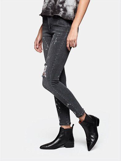 Sting Kleding.Jeans Seven Sisters High Waist Skinny The Sting Kleding