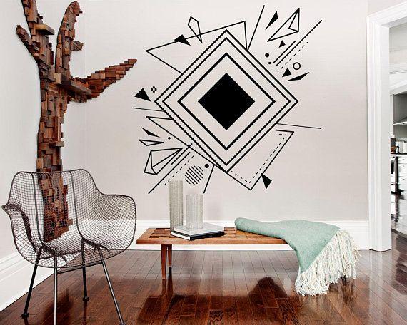 Geometric Wall Art Abstract Wall Art Abstract Art Office Decor