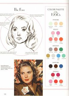 1950s makeup palette. Just because it's Ingrid Bergman!
