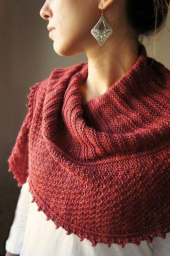 Joji Autumn Blush Shawl Knitting Pattern
