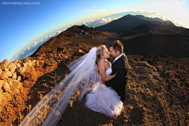 Avante Garde Wedding Photography Haleakala National Park Volcano Maui HI