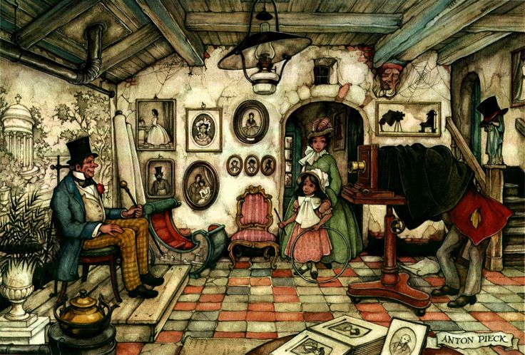 The Photographer - Anton Pieck, Dutch painter, artist and graphic artist.