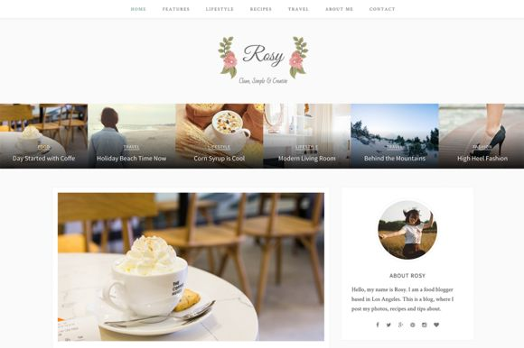 Rosy- Beautiful WordPress Blog Theme by ShapedTheme on Creative Market