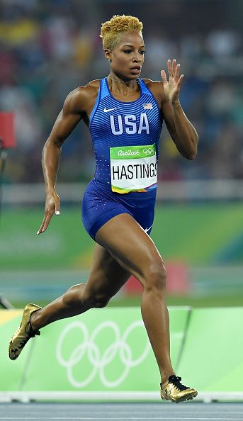 Natasha Hastings of the United States competes in the Women's 400 meter…