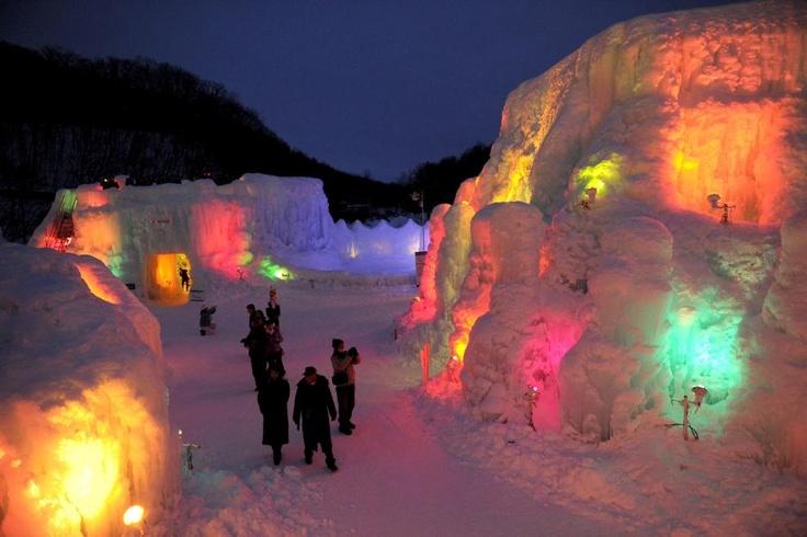 Lake Shikotsu Ice Festival in Chitose, Japan