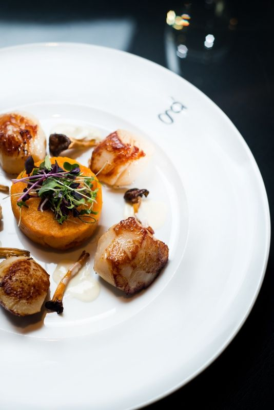 Scallops at Restaurant gigi's in the g Hotel & Spa Galway City - eat@theg.ie