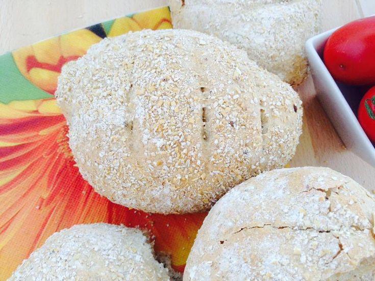 Pane integrale con crusca e avena