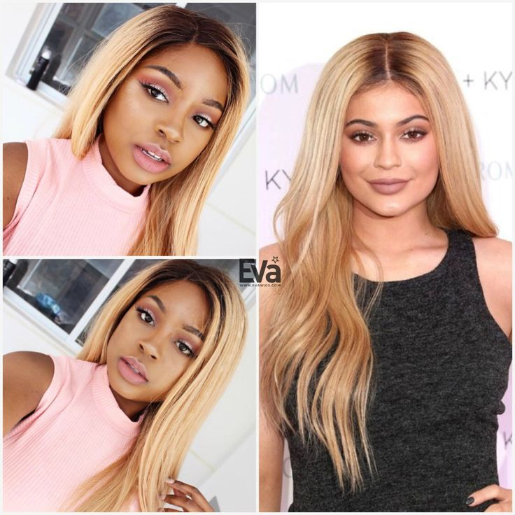 Missdarcei Is Rocking Kylie Jenner Inspired Blonde Ombre Slight Wavy Wig Hair Cew427
