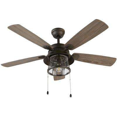 Shanahan 52 In Led Indoor Outdoor Bronze Ceiling Fan With