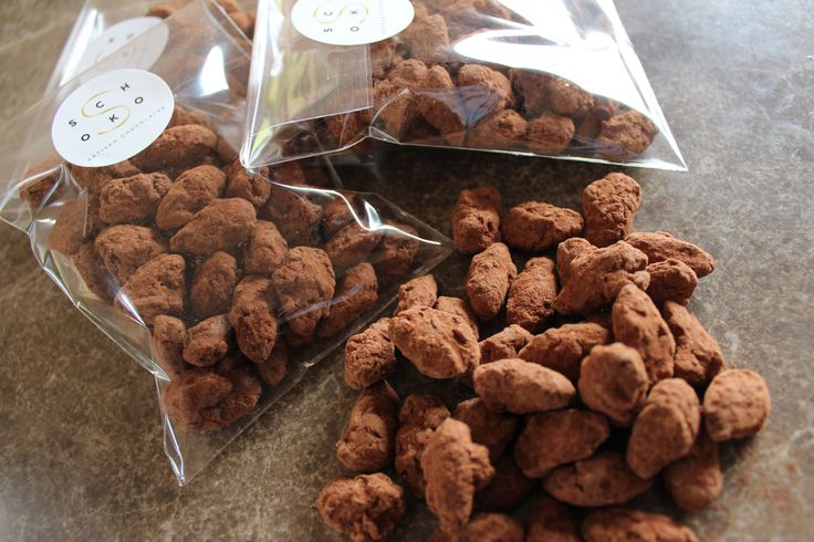 Smoked Chocolate Coated Almonds