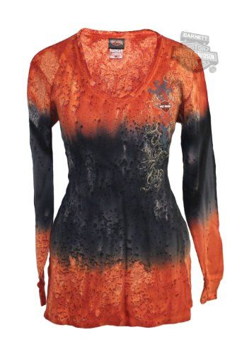 Harley-Davidson Womens Lava Dyed V-Neck Tie-Dyed Long Sleeve Thermal    http://bikeraa.com/harley-davidson-womens-lava-dyed-v-neck-tie-dyed-long-sleeve-thermal/