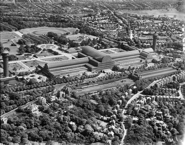 Crystal Palace, Penge, May 1928 - Old Aerial Photos Of London Released | Londonist