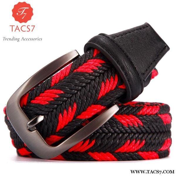 Designer Mens Belts Braided Woven Trending Accessories