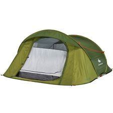 2014 Quechua Tent Camping 2 Seconds EASY 3 green Pop Up Tent , double skinned