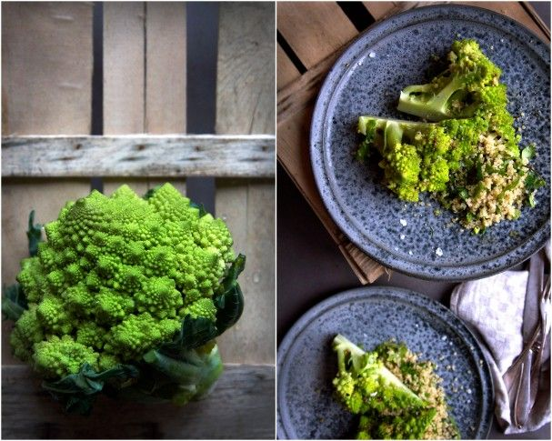Garlicky Whole Steamed Romanesco + a miracle! at www.Earthsprout.com