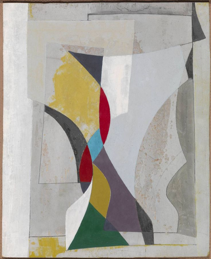 Ben Nicholson OM (1894‑1982), Feb 55, 1955, Oil paint and graphite on paper on board