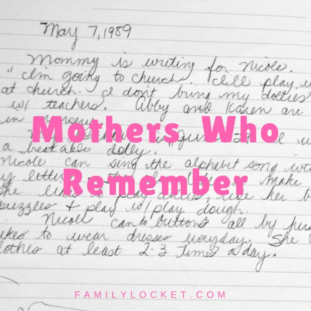 """Strengthening children by becoming a """"Mother Who Remembers"""" – Family Locket"""