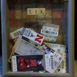 Shadow box with Husker tickets!
