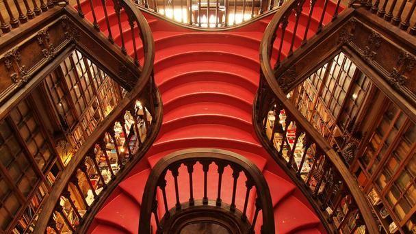 Lello Bookshop, Porto: Port Portugal, Lello Bookshop, Red, Rollers Coasters, Bookstores, Books Stores, Centerpieces, Coolest Stairca, The World