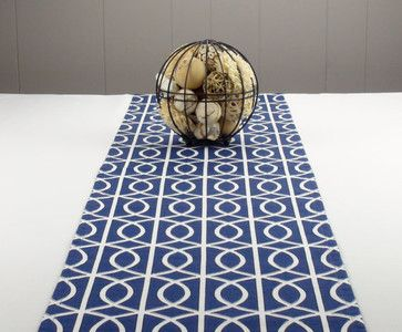 Modern Navy Blue Table Runner By Proper Pillow   Contemporary   Table Linens    Etsy