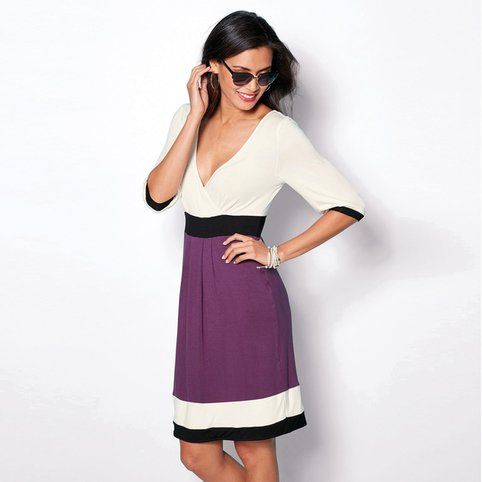 Robe courte manches courtes femme
