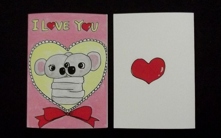 I Love You Valentines Day Koala Greeting Card