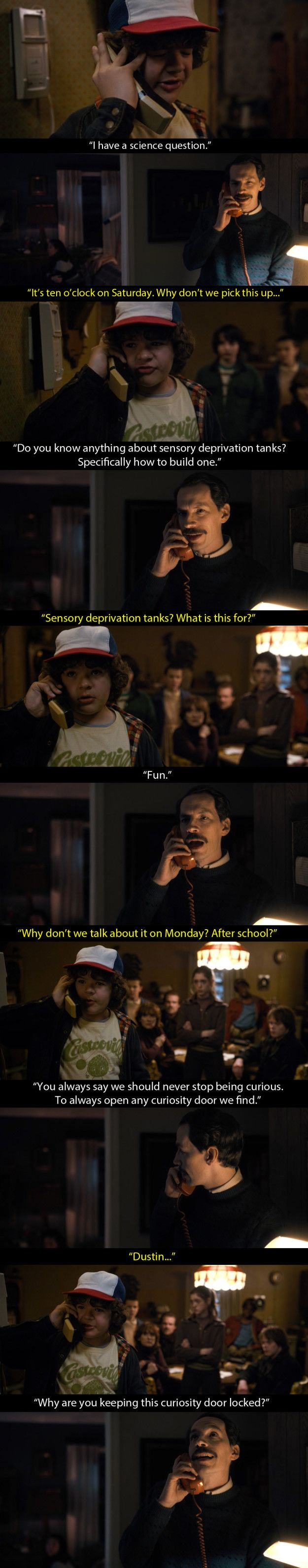 "Mr Clarke is also responsible for what I think is one of the best moments in the entire season. | Mr Clarke Is The Most Underrated Character In ""Stranger Things"""
