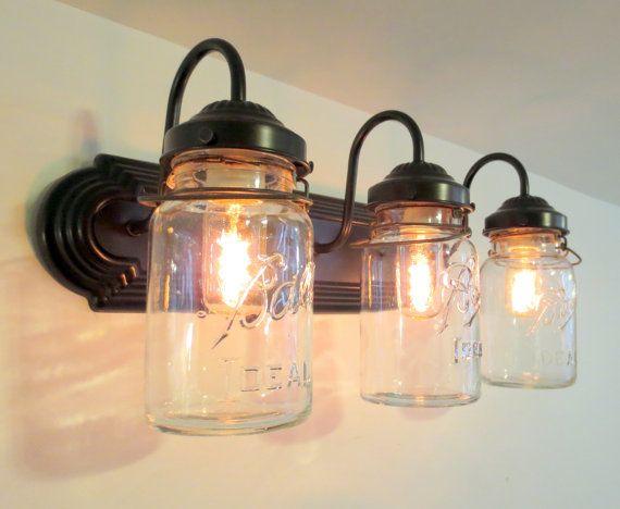 Rustic Bathroom Vanity Lights 310 best rustic love images on pinterest | mason jar lighting, jar