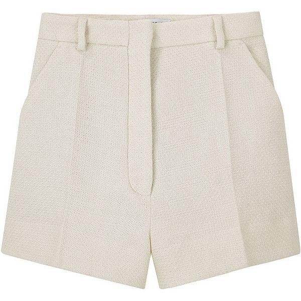 Viktor & Rolf Waffle Short ($173) ❤ liked on Polyvore featuring shorts, bottoms, pants, short, women, short shorts, relaxed shorts, high rise shorts, high-rise shorts and highwaist shorts