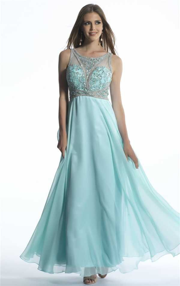 Dave and Johnny 1187 Aqua Beaded Long Formal Prom Dresses for Discount