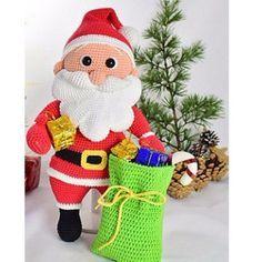 Вязаный крючком Санта Клаус. Схема