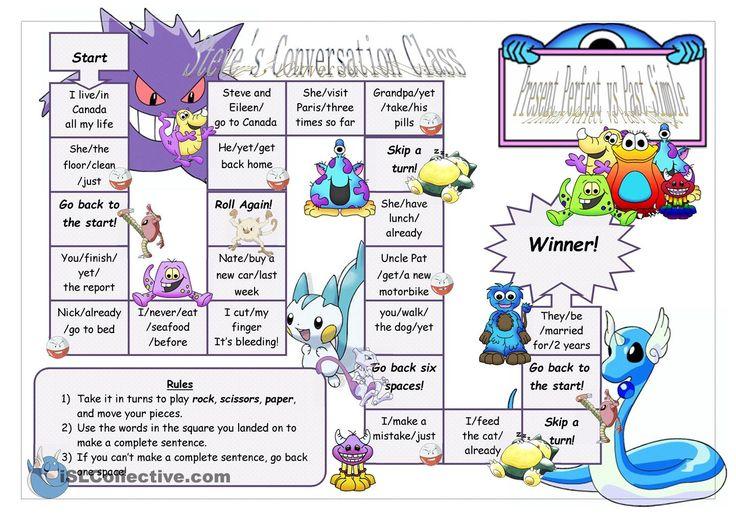Present Perfect vs. Past Simple Board Game 2