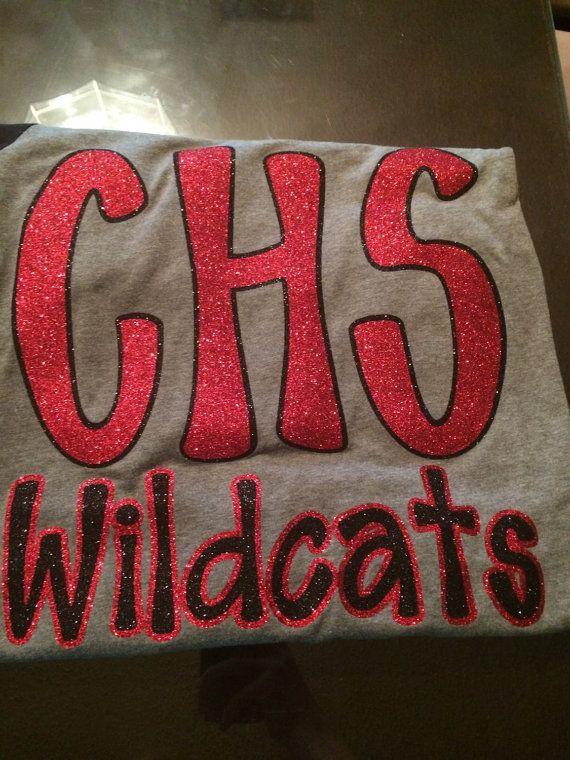 CHS Wildcats Shirt School Spirit Shirt by SparkleandGlamBows