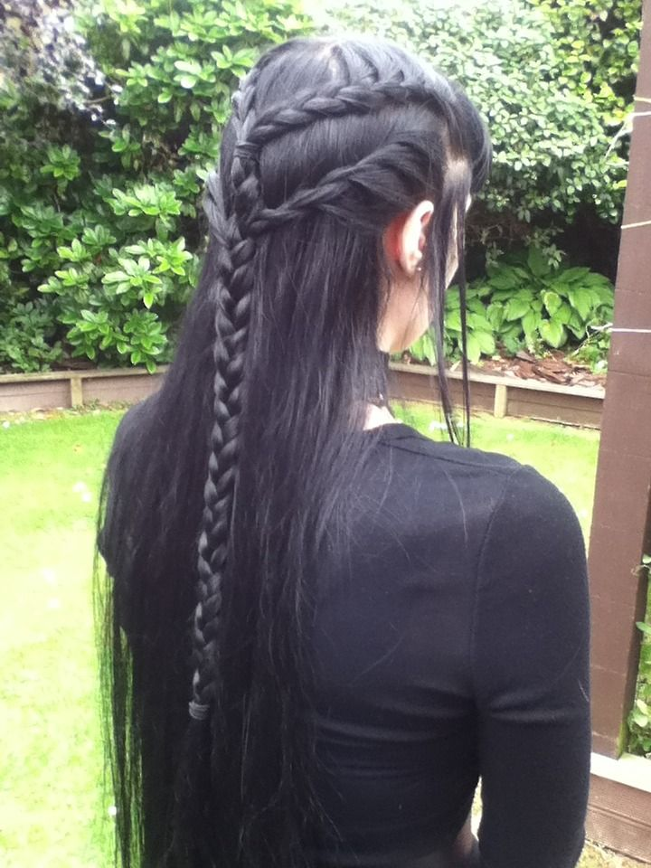 Gorgeous Elven-inspired hair