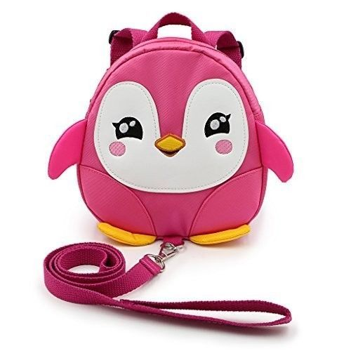 Safe Baby Harness Toddler Kids Safety Child Pink Penguin Strap Rein Back Pack #SafeBabyHarness